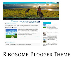 Ribosome - WordPress Looking Blogger Template
