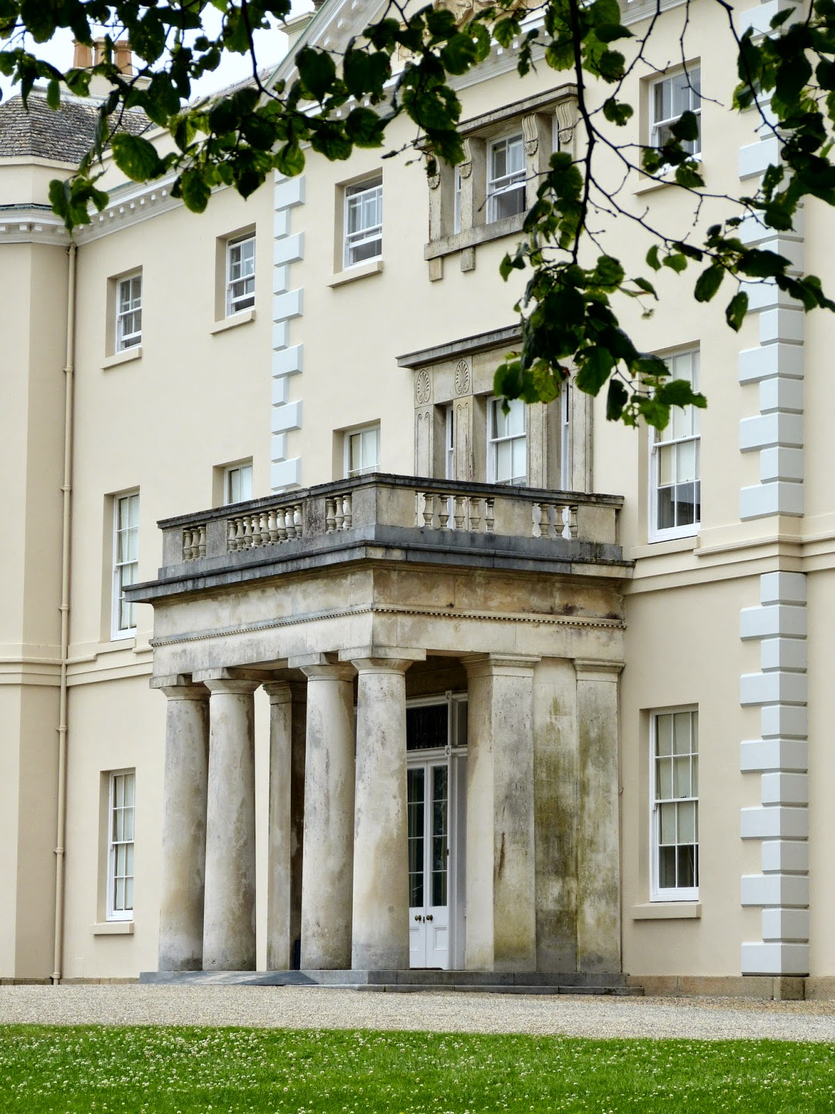 The entrance to Saltram House