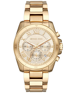 Michael Kors Brecken Gold-Tone Watch $186 (reg $275)