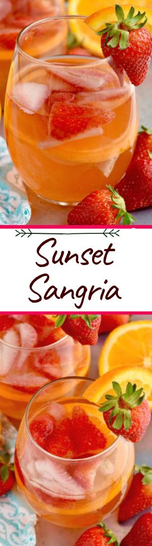 Sunset Sangria #healthydrink #easyrecipe
