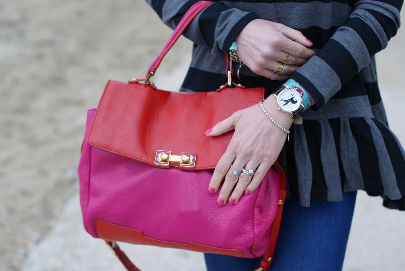 Marc by Marc Jacobs color block bag on Fashion and Cookies fashion blog, fashion blogger style