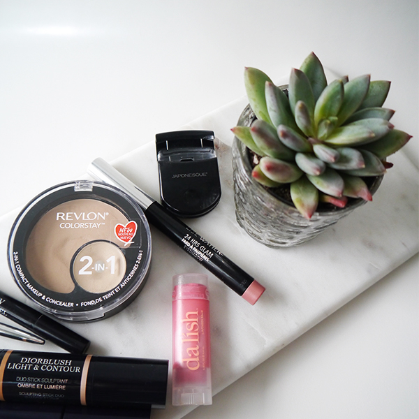 Minimalist makeup routine featuring Revlon, Da Lish Cosmetics natural makeup, Japonesque