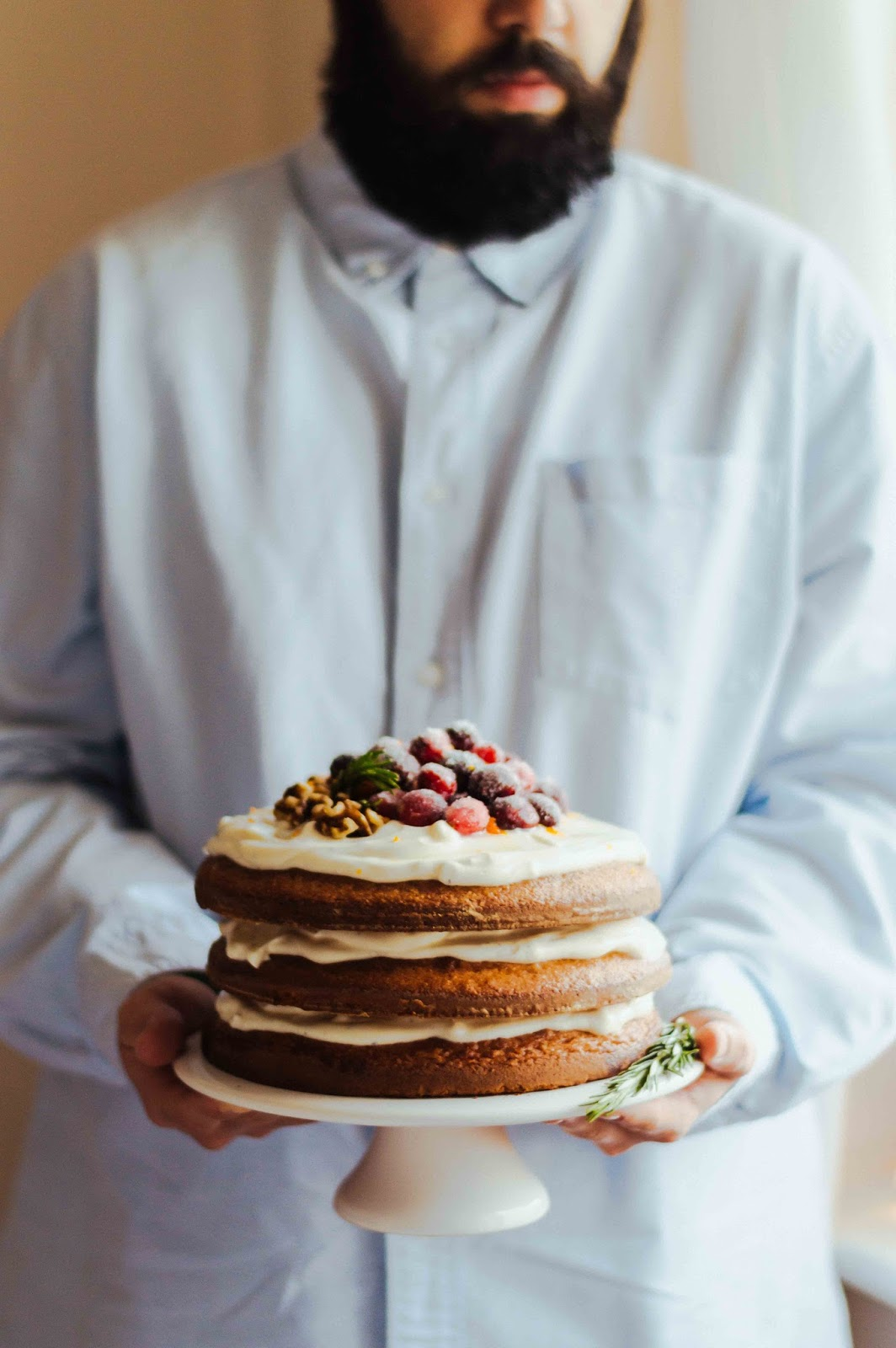 Rosemary Clementine Gingerbread Layer Cake | https://oandrajos.blogspot.com