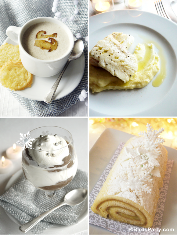Winter Dinner Party Menu Ideas Part - 24: White Winter Wonderland Christmas Party Menu