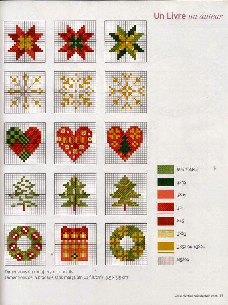 Piccolo Schemi Punto Croce Natale.Piccoli E Facili Schemi A Punto Croce Dedicati Al Natale
