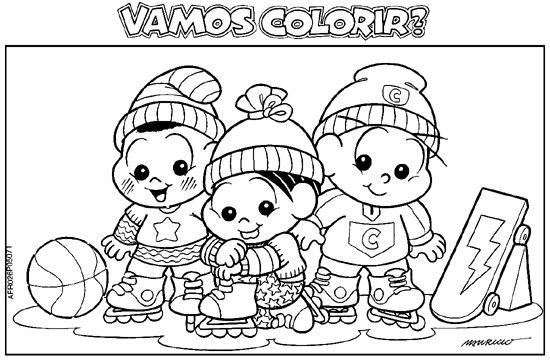 Desenhos Para Colorir Turma Da Mônica 09 Atividades E