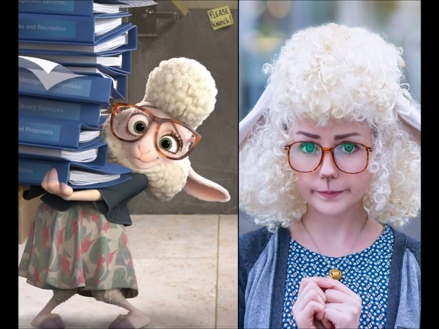 20 Amazing Cosplays That Look Extremely Similar To The Original Cartoons - An adorable little lamb!