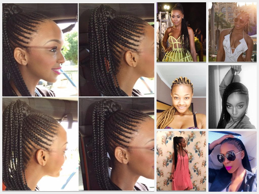 Magnificent 8 Mzansi Celebs Who Rock Cornrows The Edge Search Hairstyles For Men Maxibearus