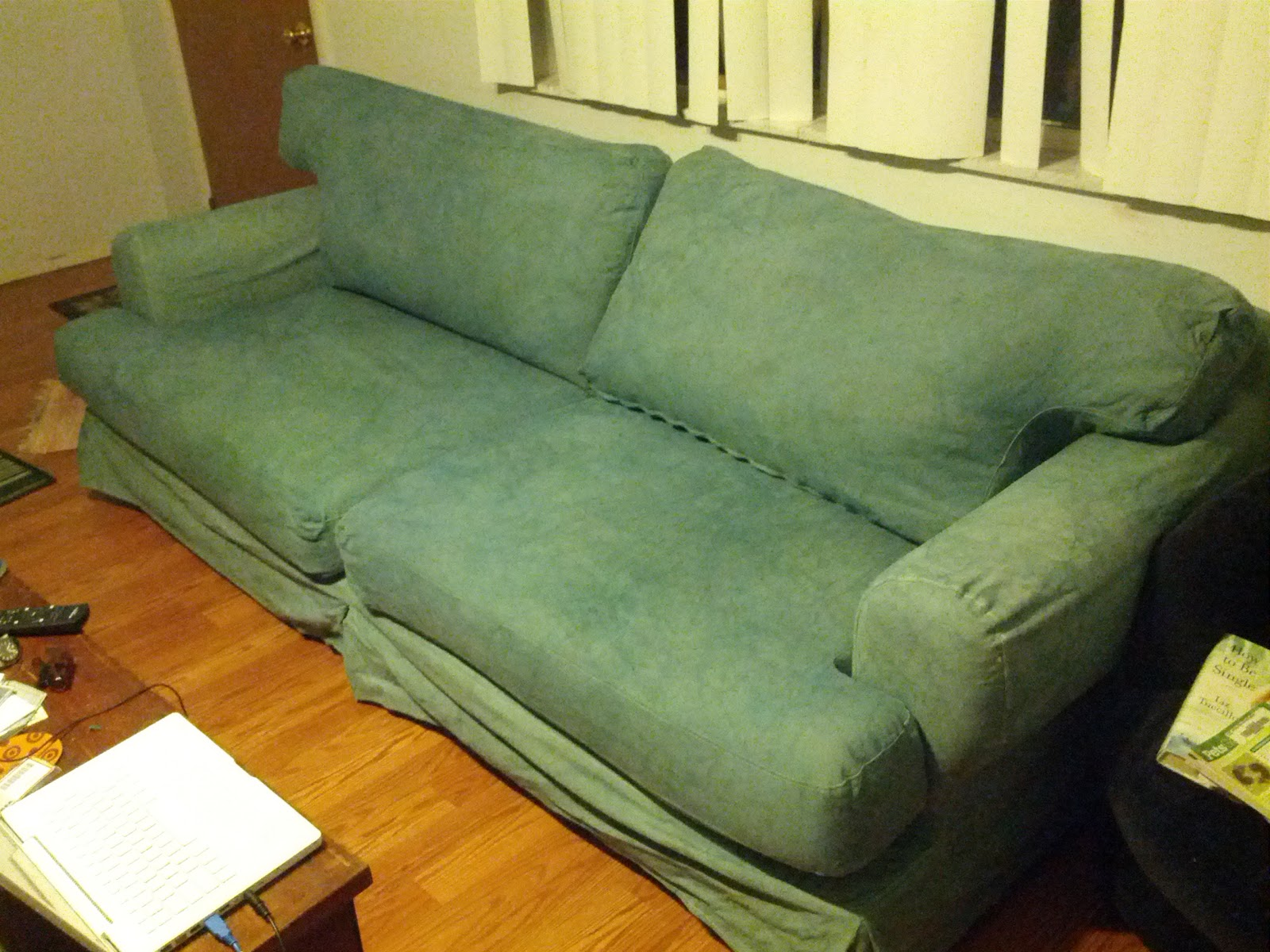IKEA Sofa Couch Cover Thrifty Crafty Hack Hovas Hoevas