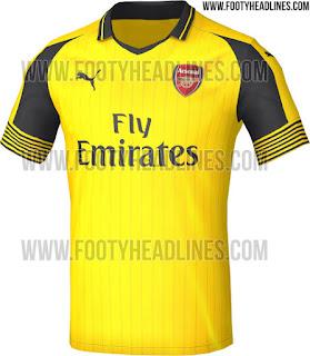 Arsenal 16/17 Away kit2