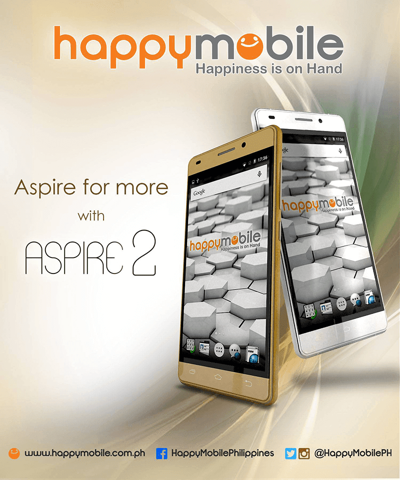 Happy Mobile Aspire 2 Announced! Comes With Aluminum Body And Glass Back For 4999 Pesos!