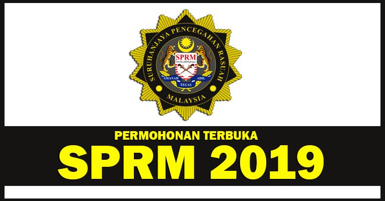 Permohonan Terbuka Jawatan di Suruhanjaya Pencegahan Rasuah Malaysia SPRM