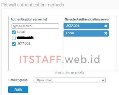 Sophos XG, Services Active Directory - ITSTAFF.web.id