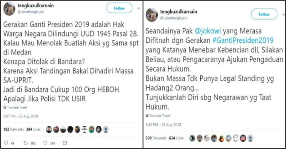 Ustadz Tengku Zulkarnain Tanggapi Keras Penghadangan Neno Warisman di Bandara Syarif Kasim Riau