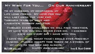 Sueraypolecom Happy Forty Fifth Wedding Anniversary To My Husband