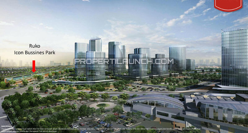 Posisi Ruko The Icon Business Park