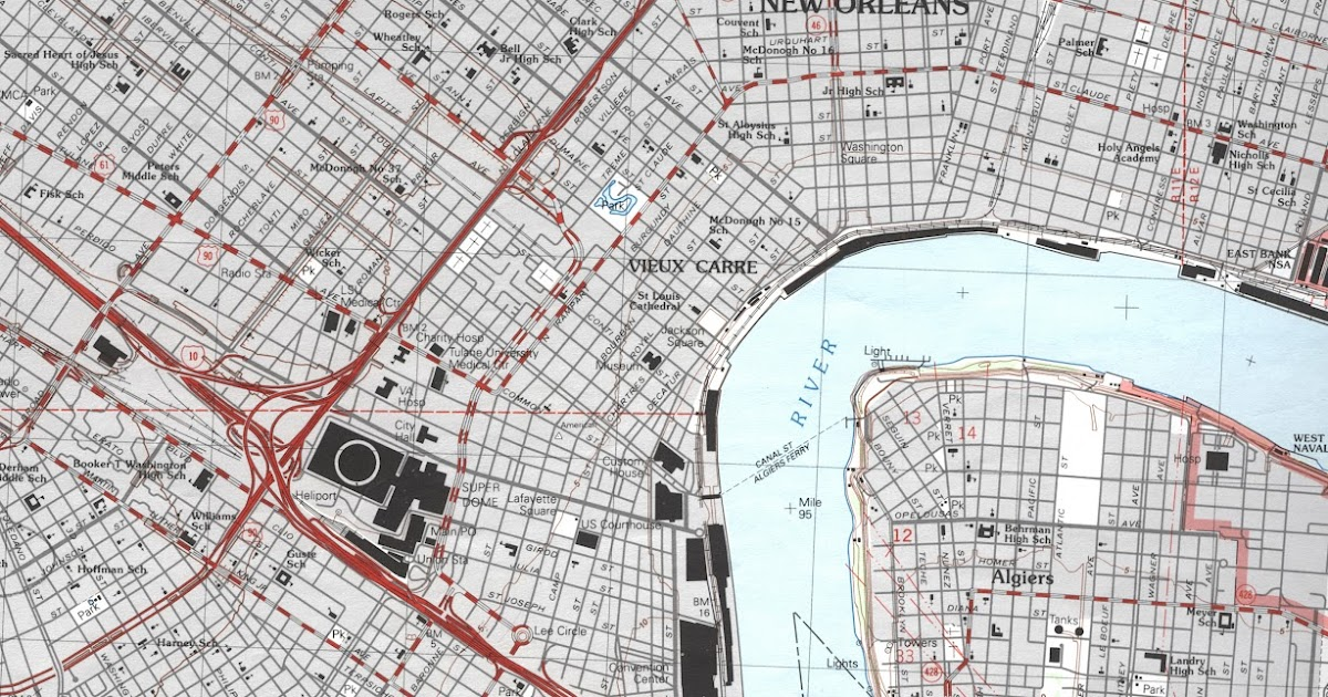 University Of Southern Mississippi >> GIS Research and Map Collection: New Orleans, Plaquemines Parish, Slidell Topographic Maps ...