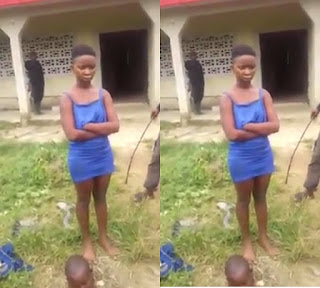 Teenage Girl Caught with Fresh Human Head