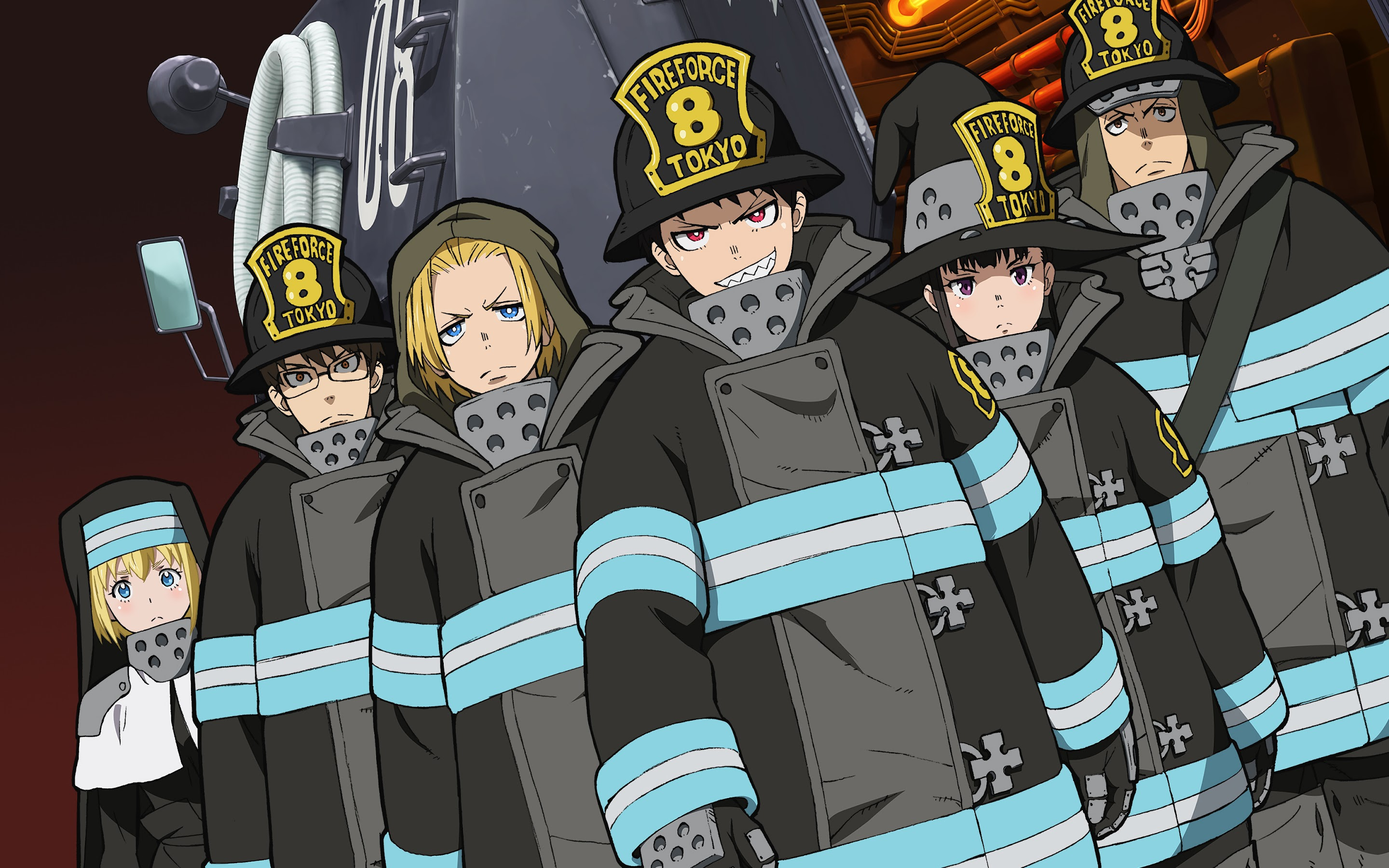 Fire Force Characters Special Fire Force Company 8 4k Wallpaper 37 Tons of awesome fire force wallpapers to download for free. fire force characters special fire
