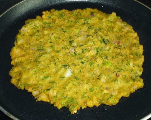 thalipeeth shallow frying