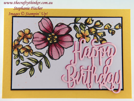 #thecraftythinker, #stampinup, #cardmaking, Petal Passion Memories & More Cards, Stampin' Blends, Happy Birthday, Stampin' Up! Australia Demonstrator, Stephanie Fischer, Sydney NSW