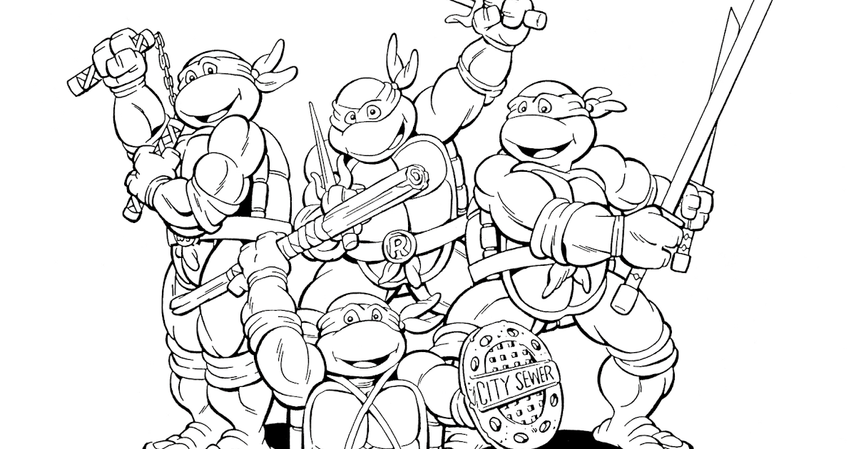Desenhos Das Tartarugas Ninja Para Colorir, Pintar