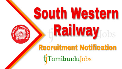 South Western Railway recruitment 2019 | South Western Railway Notification 2019