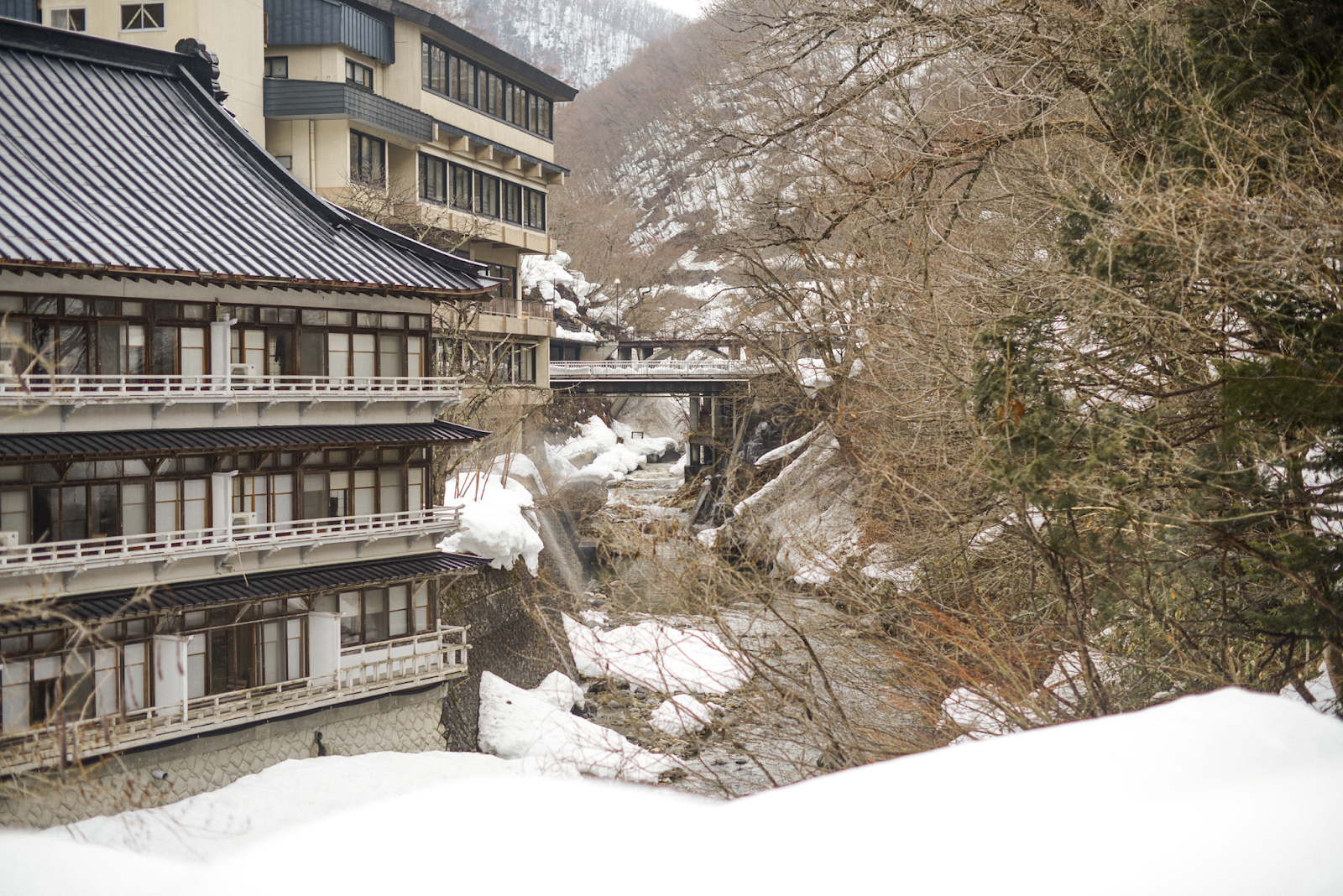 Biggest open-air bath onsen in Japan. Takaragawa Onsen, Minakami Gunma, Japan / FOREVERVANNY.com