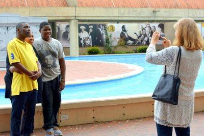 Photo time for visitors at MLK Center in Atlanta