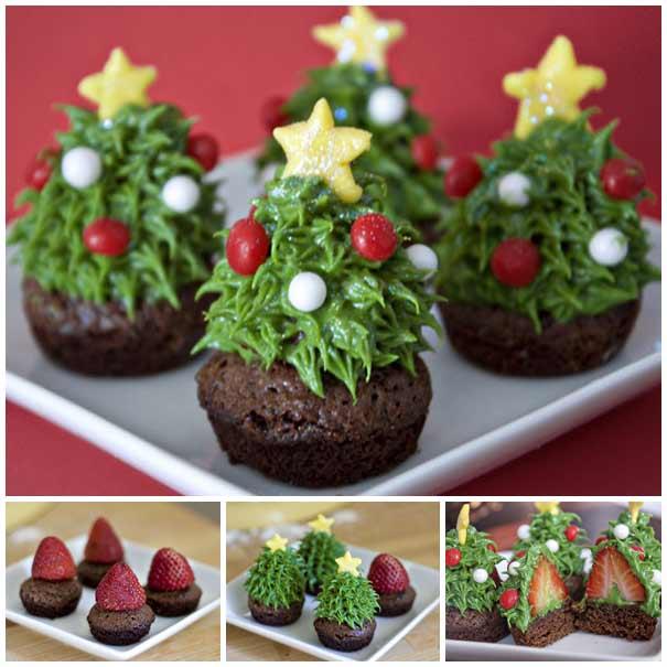 пирожное шоколадное конфеты елки новый год рецепт