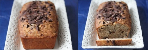 banana and chocolate bread