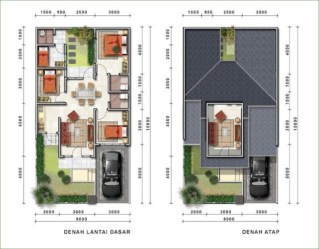 Denah Desain Rumah Minimalis 1 dan 2 lantai Terbaru 2017