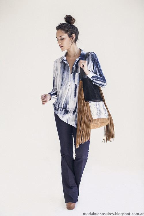 Camisas batik otoño invierno 2016 moda mujer Ossira.
