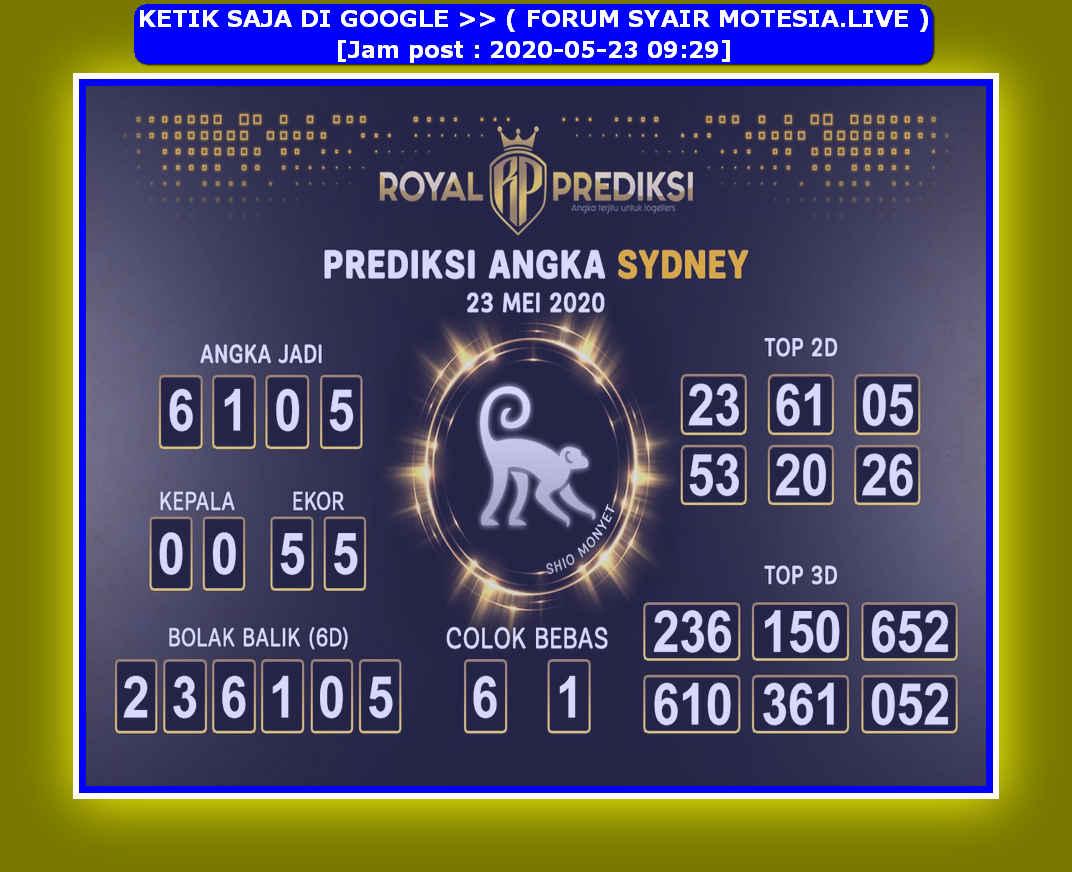 Kode syair Sydney Sabtu 23 Mei 2020 8