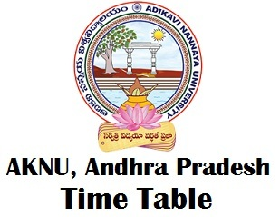 Adikavi Nannaya University Time Table 2018