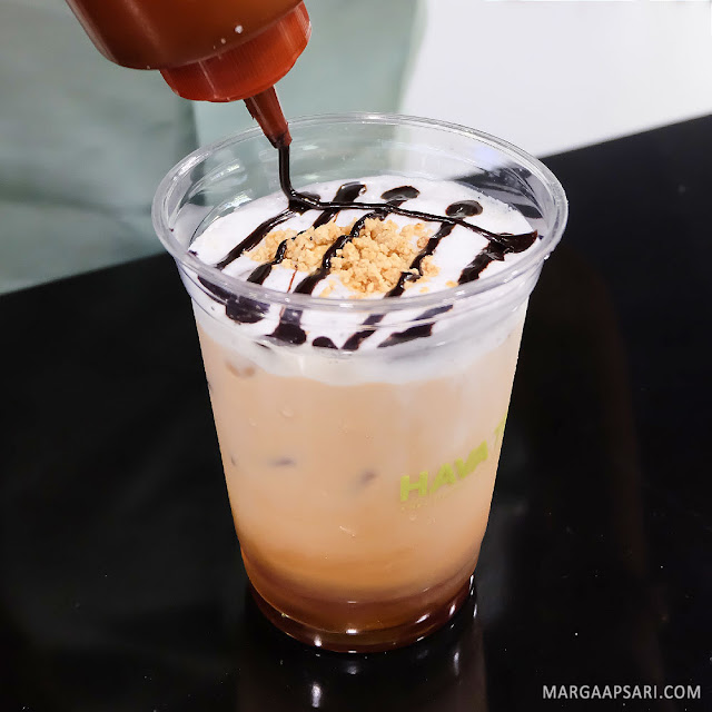 Iced Hazelnut Nutty Tea Latte Hava Tea