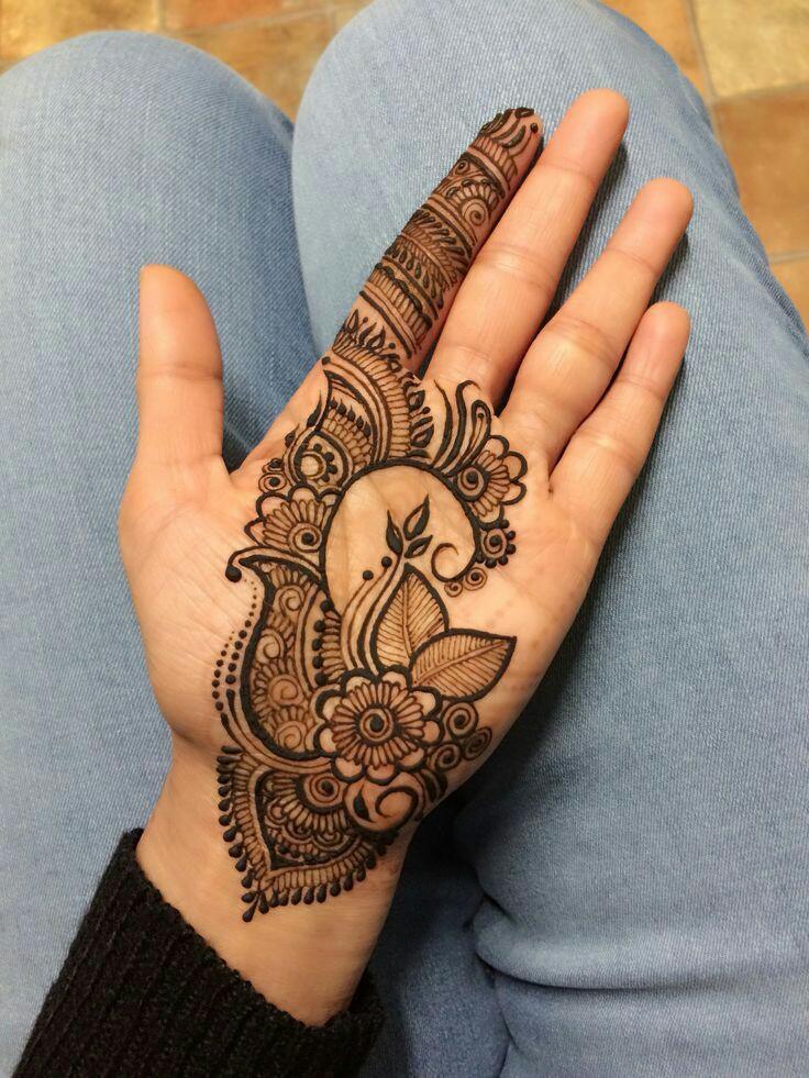 Shimmer Palm Arabic Mehndi Designs - Palm Arabic Mehndi ...