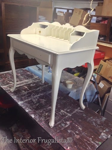 French Provincial Desk BEFORE makeover