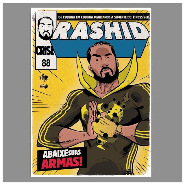 Rap em Quadrinhos - Rashid é retratado como Punho de Ferro