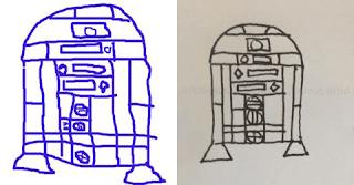 dessin-de-r2d2-1 Comment dessiner R2D2