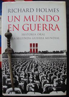 Portada del libro Un mundo en guerra, de Richard Holmes