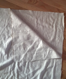 Cut dropcloth to size