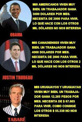Barack Obama, Justin Trudeau y Tabaré Vázquez (Humor)