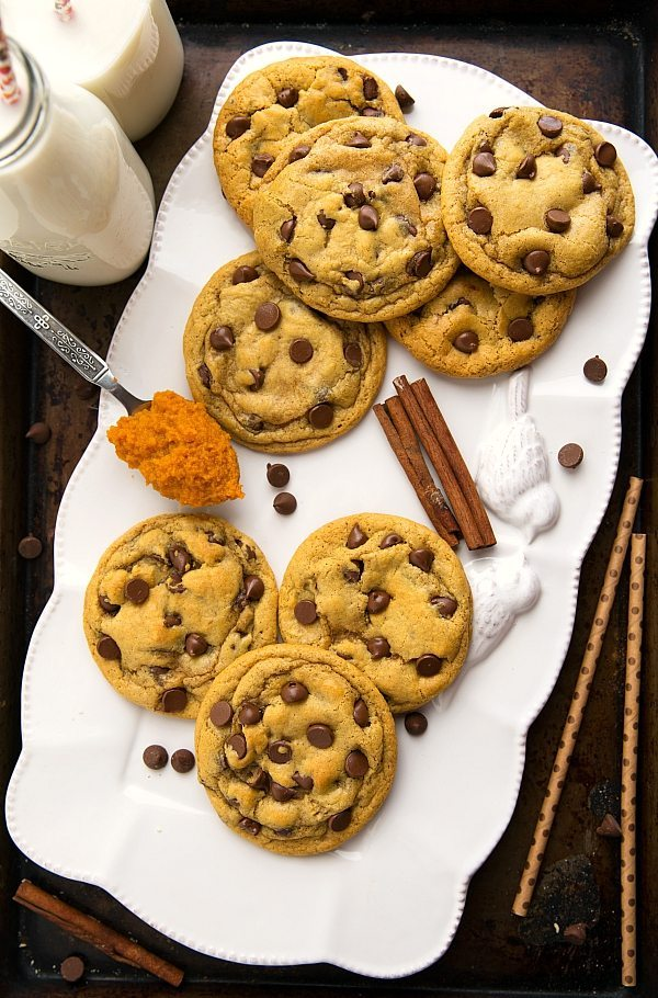 Pumpkin Spice Chocolate-Chip Cookies Recipe