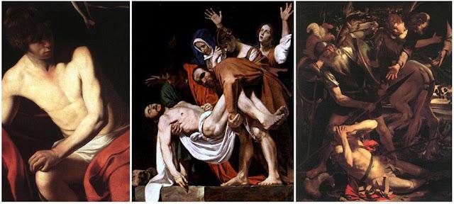Cuadro San Juan Bautista de Caravaggio en la Galleria Corsini de Roma, Cuadro Descendimiento de Caravaggio en la Pinacoteca Vaticana, Cuadro Conversión de San Pablo perteneciente a la Collezione Odescalchi