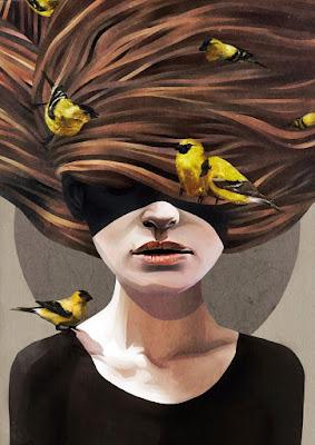 Ilustración de rostro de mujer