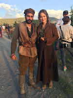 Hera Hilmar and Ali Riza Sahenk on the set of The Ottoman Lieutenant (3)