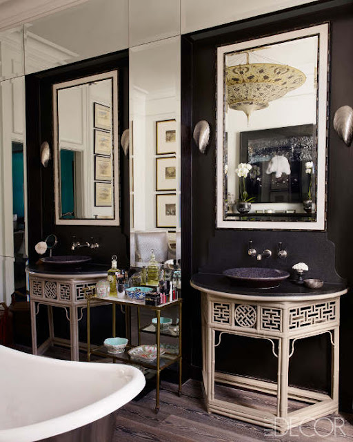 Noir blanc un style for Townhouse bathroom ideas