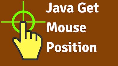 java get mouse coordinates