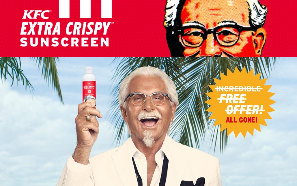 KFC Launches Extra Cripsy Sunscreen Lotion
